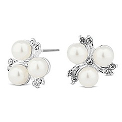 Alan Hannah Devoted - Designer trio pearl and crystal spray stud earring