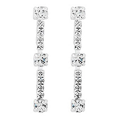 Jon Richard - Diamante crystal singular drop earring