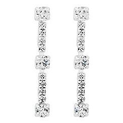 Jon Richard - Diamante crystal singular drop earring