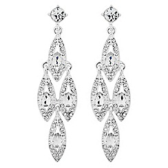 Jon Richard - Peardrop encased chandelier drop earring
