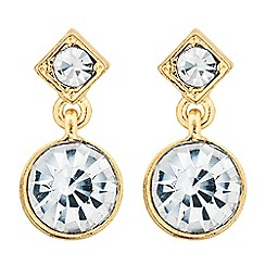Jon Richard - Crystal square and circular drop earring