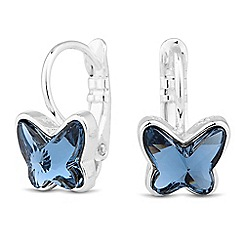 Jon Richard - Blue crystal butterfly earring MADE WITH SWAROVSKI CRYSTALS