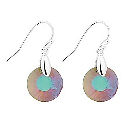 Jon Richard - Paradise shine crystal round drop earring MADE WITH SWAROVSKI CRYSTALS