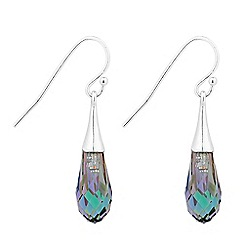 Jon Richard - Paradise shine briolette drop earring MADE WITH SWAROVSKI CRYSTALS