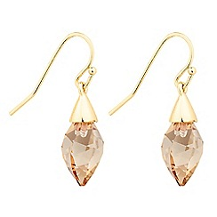 Jon Richard - Golden shadow briolette drop earring MADE WITH SWAROVSKI CRYSTALS