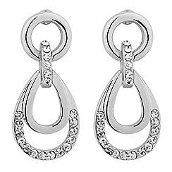 Jon Richard - Polished and crystal teardrop earring