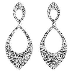 Jon Richard - Crystal embellished double teardrop earring