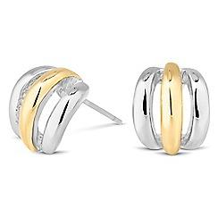 Jon Richard - Polished two tone mini half hoop earring