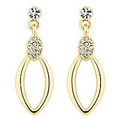 Jon Richard - Polished crystal gold leaf drop earring