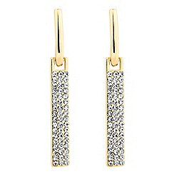 Jon Richard - Crystal encased rectangular stick drop earring