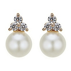 Jon Richard - Cubic zirconia top pearl earring