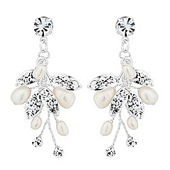 Alan Hannah Devoted - Designer primrose freshwater pearldrop earrings