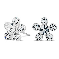 Alan Hannah Devoted - Designer botanical crystal earrings