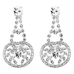 Jon Richard - Diamante crystal flower chandelier earring