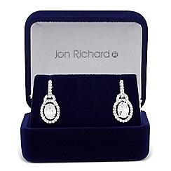 Jon Richard - Cubic zirconia oval surround drop earring