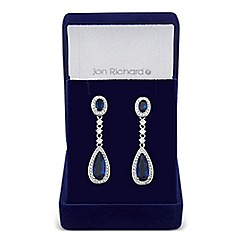 Jon Richard - Blue cubic zirconia clara and teardrop earring