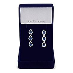 Jon Richard - Orchid cubic zirconia pear drop earrings