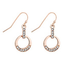 Jon Richard - Crystal embellished circular drop earring