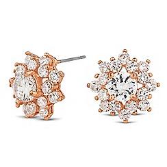 Jon Richard - Cubic zirconia floral cluster stud earring