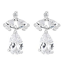 Jon Richard - Triple crystal peardrop earring