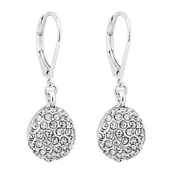 Jon Richard - Crystal embellished ball drop earring