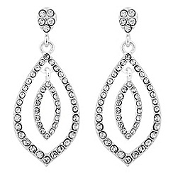 Jon Richard - Crystal embellished double leaf drop earring