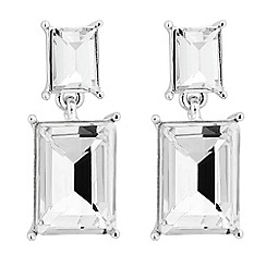 Jon Richard - Double rectangular crystal drop earring