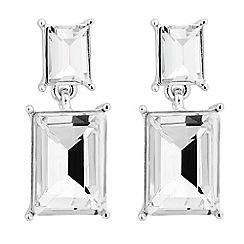Jon Richard - Double rectangular crystal drop earring
