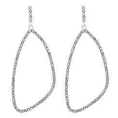 Jon Richard - Crystal encased geometric drop earring