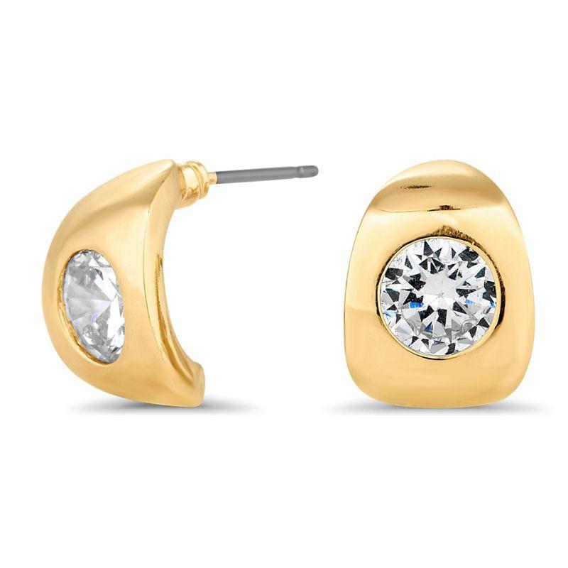 Jon Richard Crystal encased gold half hoop earring