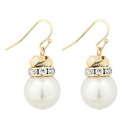 Jon Richard - Twisted knot and pearl drop earring
