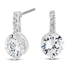 Jon Richard - Embellished stick and round cubic zirconia earring