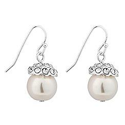 Jon Richard - Crystal top cream pearl drop earring