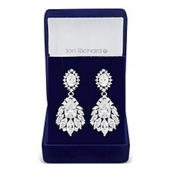 Jon Richard - Bloom cubic zirconia statement earrings