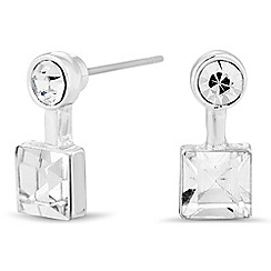 Jon Richard - Round and square crystal stud earring