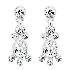 Jon Richard - Crystal bubble drop earring