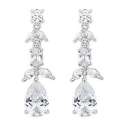 Alan Hannah Devoted - Designer iris cubic zirconia drop earrings