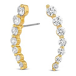Jon Richard - Graduated cubic zirconia ear climber