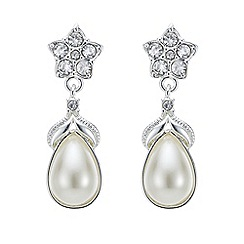 Jon Richard - Isabella crystal flower and pearl drop earring