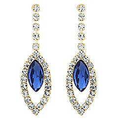 Jon Richard - Blue navette and diamante crystal surround earring