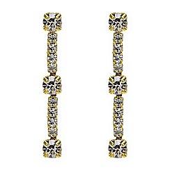 Jon Richard - Gold crystal diamante drop earring