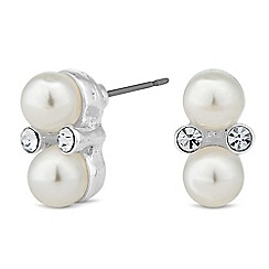 Jon Richard - Pearl and mini crystal stud earring