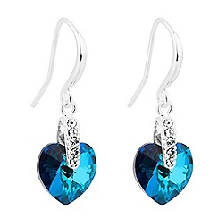 Jon Richard - Bermuda blue heart drop earring MADE WITH SWAROVSKI CRYSTALS