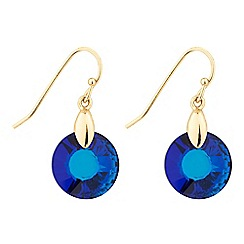 Jon Richard - Blue round drop earring MADE WITH SWAROVSKI CRYSTALS