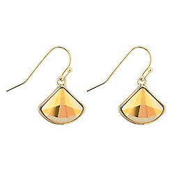 Jon Richard - Gold fan drop earring MADE WITH SWAROVSKI CRYSTALS