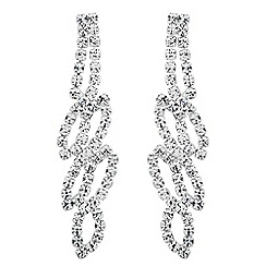Jon Richard - Diamante crystal swirl drop earring