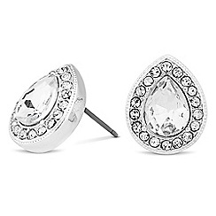 Alan Hannah Devoted - Designer peardrop crystal surround earring
