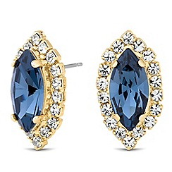 Jon Richard - Blue navette crystal earring MADE WITH SWAROVSKI CRYSTALS