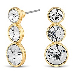 Jon Richard - Graduated round crystal stud earring