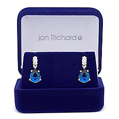 Jon Richard - Blue cubic zirconia peardrop earring